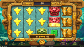 Temple of Nudges Slot Respin feature