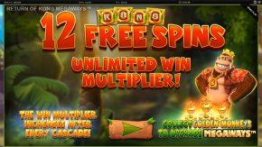 Return of Kong Megaways Free Spins