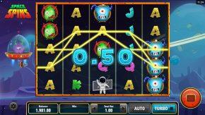 Space Spins Slot Symbols Bonus