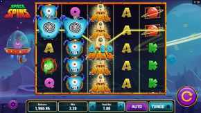 Space Spins Slot Gameplay