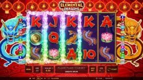 Elemental Dragons Video Slot Gameplay