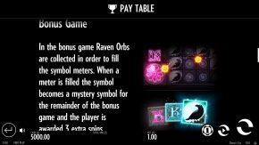 Raven's Eye Pay Table Bonus