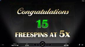 Break da Bank Again Respin Free Spins win
