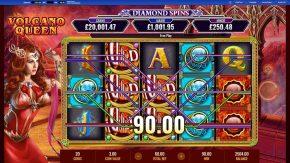 Queen Diamond Spinswild win