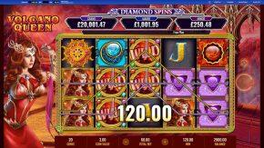 Volcano Queen Diamond Spinswild win