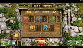 Bonanza Megaways Free Play Paytable