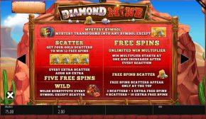 Diamond Mine Megaways Bonuses and Features