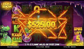 Flamin Elle Slot Heat is On Bonus Big Win