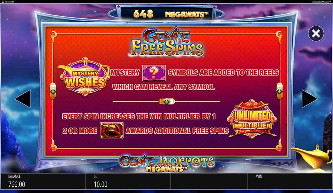 Genie Jackpots Megaways Slot Review