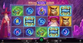 Merlin's Magic Mirror Free Play Scatters
