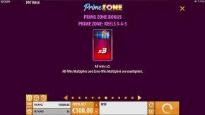 Prime Zone Slot Bonus
