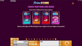 Prime Zone Slot Select Bonus