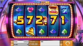 Prime Zone Slot Gameplay Win