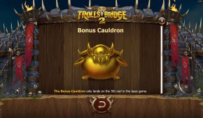 Trolls Bridge 2 Free Play Bonus Cauldron
