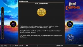 Pearl of the Caribbean reel game free spins bonus