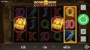 Book of Sun Multichance free spins symbols