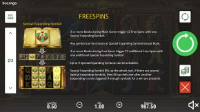 Book of Sun Multichance game rules free spins