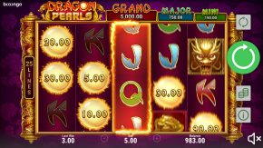 Dragon Pearls Hold and Win free spins symbols