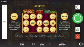Dragon Pearls Hold and Win game rules jackpots