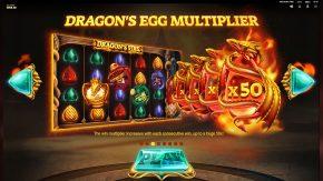 Dragons Fire Megaways game rules dragons egg multiplier