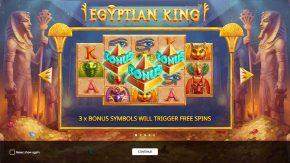 Egyptian King game rules bonus symbols