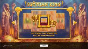 Egyptian King game rules golden pharaoh wilds