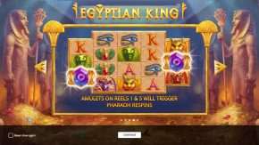 Egyptian King game rules pharaoh respins