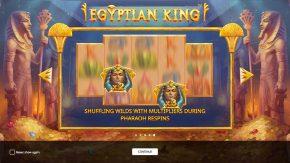Egyptian King game rules shuffling wilds