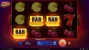 Fruit Supreme Bar Win