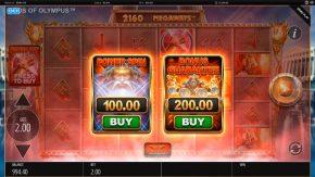 Gods of Olympus Megaways bonus bet
