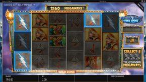 Gods of Olympus Megaways free spins gameplay