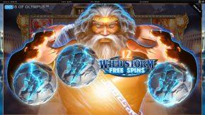Gods of Olympus Megaways wild storm