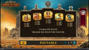 Kingdoms Rise Sands of Fury Paytable rules