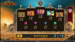 Kingdoms Rise Sands of Fury Paytable rules two