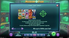Mission Cash game rules take the shot