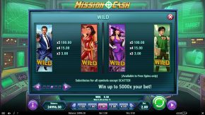 Mission Cash game rules wild