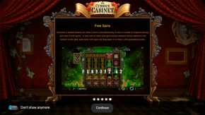 The Curious Cabinet game rules free spins