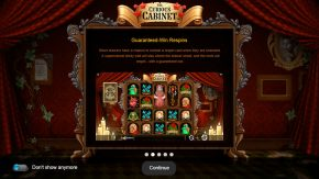 The Curious Cabinet game rules guaranteed win respins