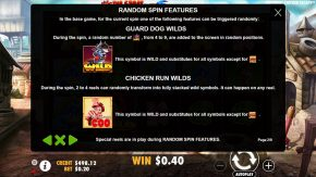 The Great Chicken Escape game rules features