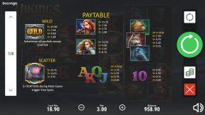 Vikings Winter game paytable