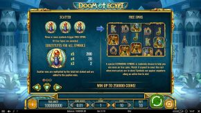 Doom of Egypt Scatter rules