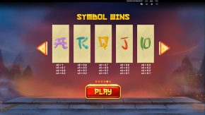 Dragons Luck Megaways paytable