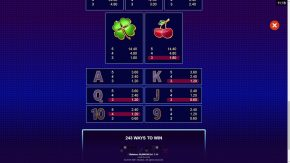 Lock A Luck game rules paytable