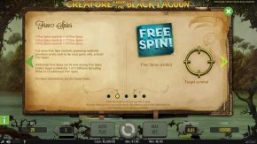 Creature From The Black Lagoon Info Free Spins