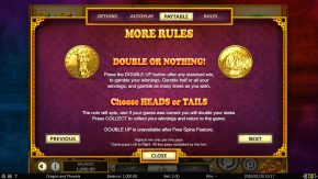 Dragon & Phoenix Paytable Double or Nothing