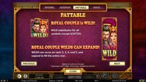 Dragon & Phoenix Paytable Wild
