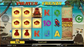 Piratez Frenzy Gameplay Line
