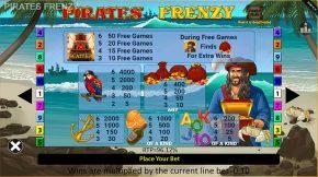Piratez Frenzy Payout