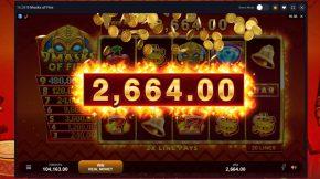 9 Masks of Fire Bonus Win