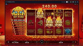9 Masks of Fire Free Spins